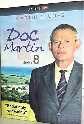 Doc Martin: The Complete Eighth Season 8 (2017, 3-Disc DVD) Ships Free 1st Class
