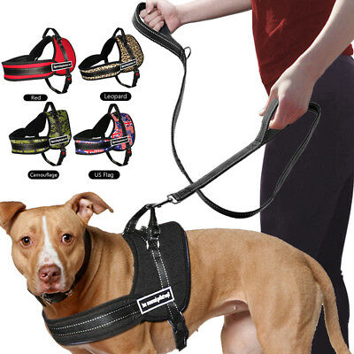 No Pull Sports Training Working Dog Harness for Pitbull Mastif K9 Labrador Husky