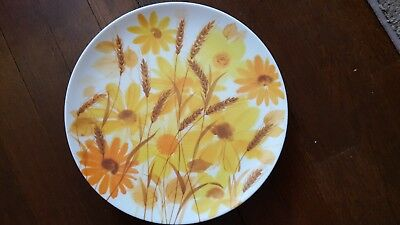 Texas Ware Sunflower daisy floral Plates Vintage