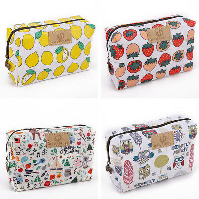 Women Cute Waterproof Makeup Travel Cosmetic Bag Toiletry Case Pouch Organizer