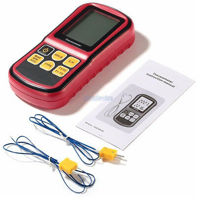 Digital Multi Testers Thermocouple Thermometer Dual Channel LCD Backlight dt UK