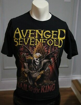 Avenged Sevenfold A7X Hail To The King Skeleton Skull T-Shirt Youth Child XL