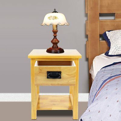 Oak Nightstand Side Table /Solid Wood Lamp Table /Brand New /Small Coffee DE