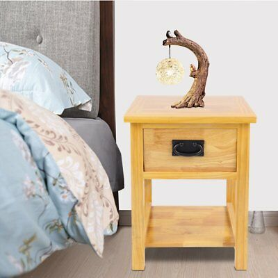 Oak Nightstand End Table Bedside Table /Night Stand with Drawer and Shelf