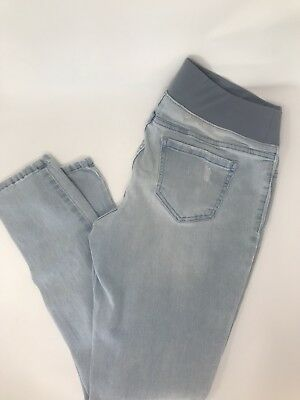 Womens 3Pc Maternity Lot Two pairs of skinny Jeans and One Dress All Size Small
