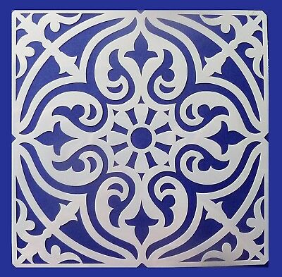 Flexible Stencil *SQUARE MANDALA* Pattern Embossing Card Making 14cm x 14cm
