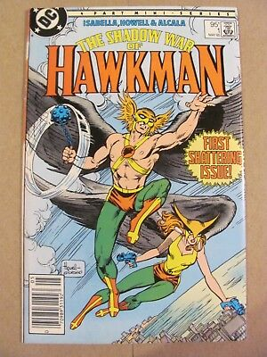 Shadow of Hawkman #1 DC Canadian Newsstand $0.95 Price Variant 9.2 Near Mint-