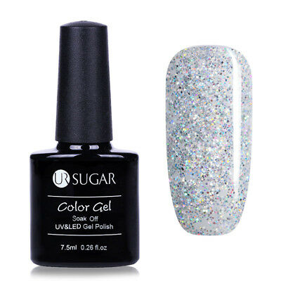 7.5ml UR SUGAR Soak Off UV Gel Nail Polish Nail Art Gel Varnish Glitter White