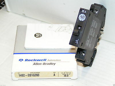 Allen Bradley 1492-GS1G200 Miniature Circuit Breaker 20 Amp New in Box