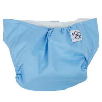 Baby reusable cloth diaper diaper over trousers pant diaper adjustable blue C8U1