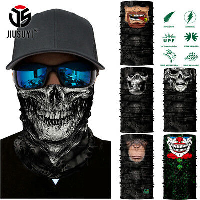 3D Animal Skull Ghost Clown Scarf Neck Warmer Gaiter Face Mask Balaclava Bandana