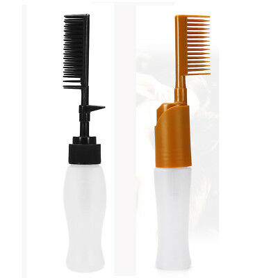 Hair Dye Bottle Comb Coloring Dyeing Bottle Comb Applicator for Salon 2 Colors