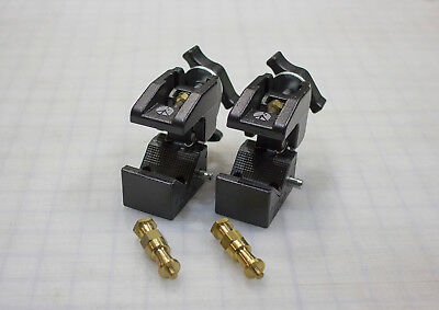 Lot of Two (2) Manfrotto Art. 035 Super Clamps (Black) with Brass Studs