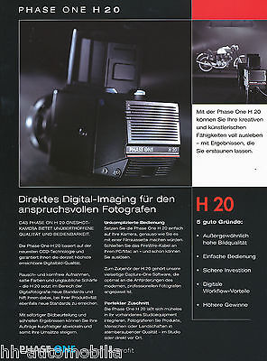PHASE ONE H20 Digital Back for Hasselblad V or Mamiya RZ67