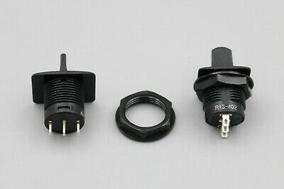 3Pcs R13-402 3Pin 3Positions SPDT Black Round Momentary Toggle Switch