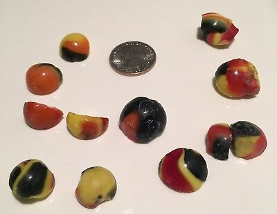 Akro Agate Marble Scrap Cullet Old Rare Indian Blanket jewelry