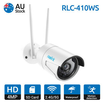 Reolink Wireless WiFi Camera 4MP Home Security CCTV with 16GB Storage RLC-410WS