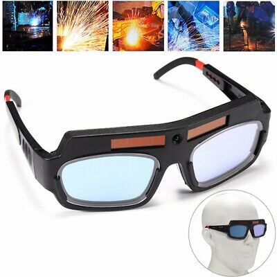 UK Solar Powered Auto Darkening Welding Mask Helmet Goggle Welder Glasses Arc