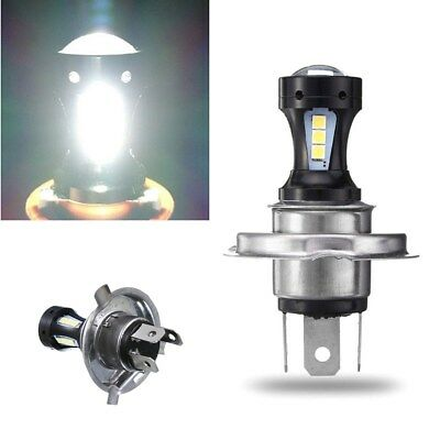 H4 18SMD 3030 Motorcycle LED Hi-Lo Beam Head Light Lamp Bulb 6500K 12-24v White