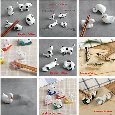 10 Type Animal Ceramic Chopsticks Spoon Fork Holder Kitchen Chopstick Rest Stand