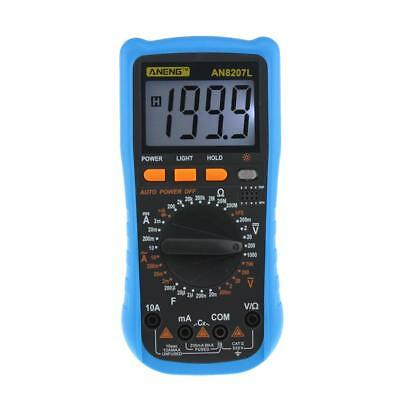 AN8207L LCD Digital Multimeter 1999 zählt Spannung Amperemeter Ohm AC DC Tester