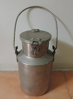 Rare Old Vintage nickel plated  brass milk can made in india