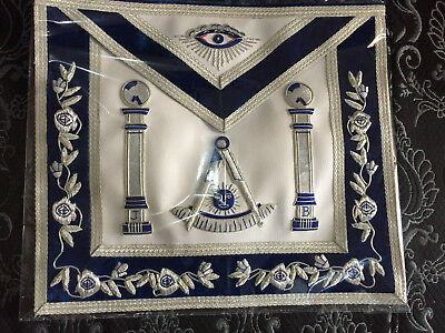 Silver Hand Bullion Past Master Embroidery Aprons No Square Pillars