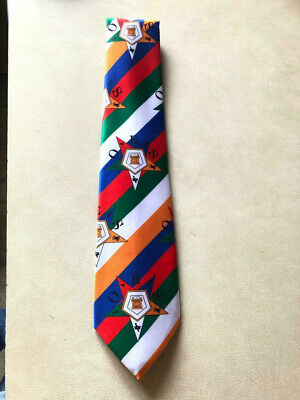 Colorful OES Ties, Order of Eastern Star Ties, Masonic Square & Compass Ties