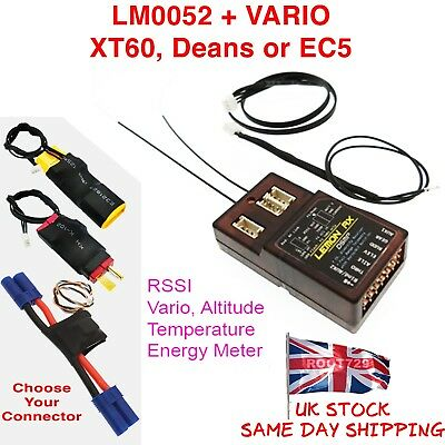 Lemon Rx DSMX 7 Channel Full Telemetry Diversity Receiver + Vario Power Altitude