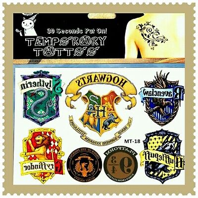 1x Hogwarts Temporary Tattoos Adult Children's Adults Harry Potter Muggles Fun ☆