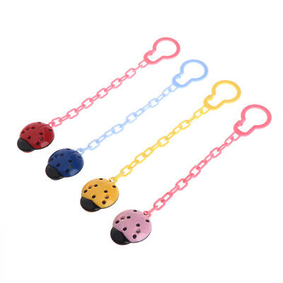 Cute Baby Kids Ladybug Dummy Pacifier Clip Chain Holder Soother Nipple Strap