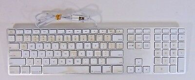 Apple A1243 Ultra Thin Aluminum USB Wired Keyboard (TESTED)