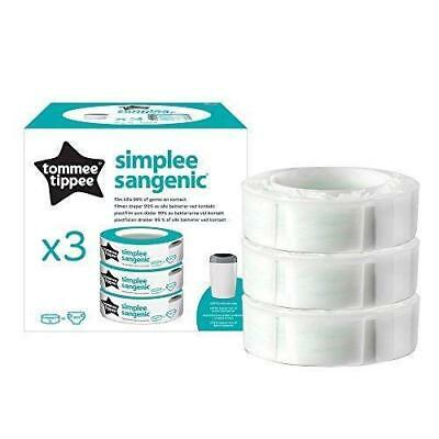 Tommee Tippee–Sangenic Refill Cassettes for Nappy Bins Bin Simplee ...
