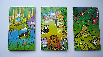 12 Jungle Zoo Animal Notebooks Notepads Birthday Party Loot Bag Fillers Toys