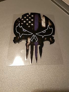 Deep Blue Helmet Decal Punisher Skull Blood Car Decals Stickers Motorcycles Bike