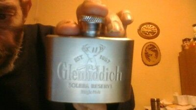 GLENFIDDICH single malt flask 2 oz. stainless steel perfect condition