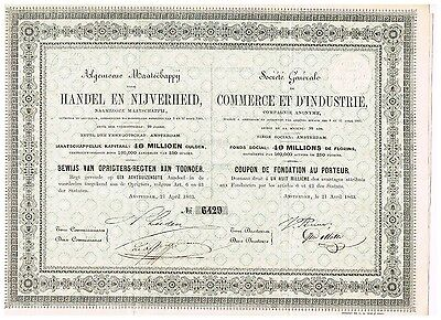 Commerce et d'Industrie, C.A., 1863, unc./cps.