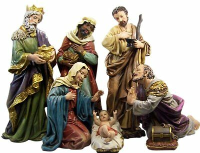 Nativity Set Manger Scene Christmas Indoor Outdoor Holy Family Extra Large 6 PC
