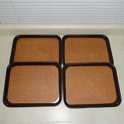 """LOT: 12 KYS-ITE COMMERCIAL RESTAURANT-BAR SERVER TRAYS, 9""""x12"""" CORK SERVING AREA"""