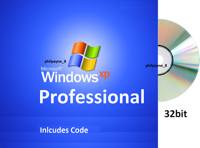 FULL Windows XP PROFESSIONAL SP3 + CODE CD 32-bit BOOTABLE Pro 10 Repair 7