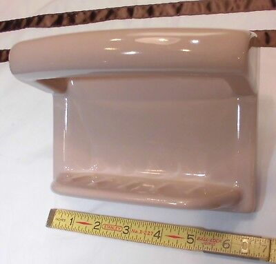 Vintage *Light Brown* Ceramic…Soap Dish with Grab Bar…easy install...NOS