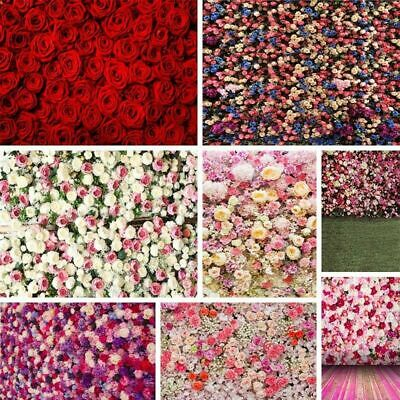 US 5x7ft Valentine's Day Photography Backdrops Floral Rose Wedding Wall Decors