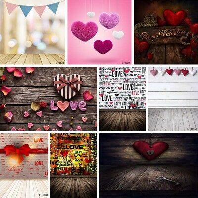 US 5x7ft Heart LOVE Photography Background Romantic Wedding Party Photo Prop NEW