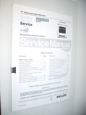 Service Manual monitor Philips 17B CM2300