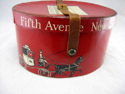 Vtg Antique Dobbs Fifth Avenue NY Salesman Sample Miniature Hat Box Advertising