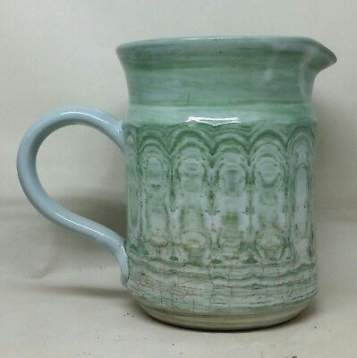 Unusual Antique/Vtg Georgian Marbled Mochaware Style Variegated Pitcher VGC