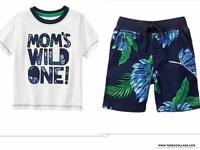 NEW GYMBOREE  Outfit  WILD ONE SHORTS OUTFIT  NWT SIZE 3T