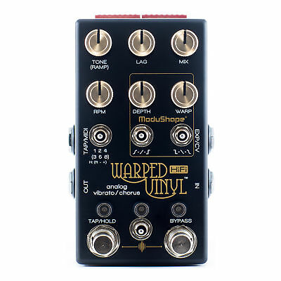 Chase Bliss Audio Warped Vinyl HiFi Analog Vibrato/Chorus Guitar Effects Pedal