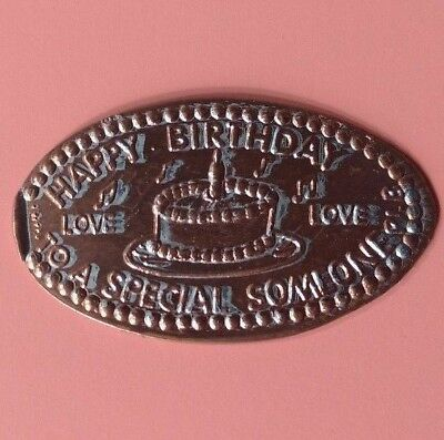 HAPPY BIRTHDAY TO A SPECIAL SOMEONE Cake Candle Love Elongated Pressed Penny