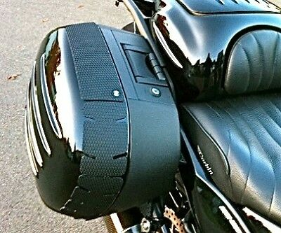 TechSpec Gripster Pannier Covers - KAWASAKI CONCOURS 14 Snake Skin - SnakeSkin